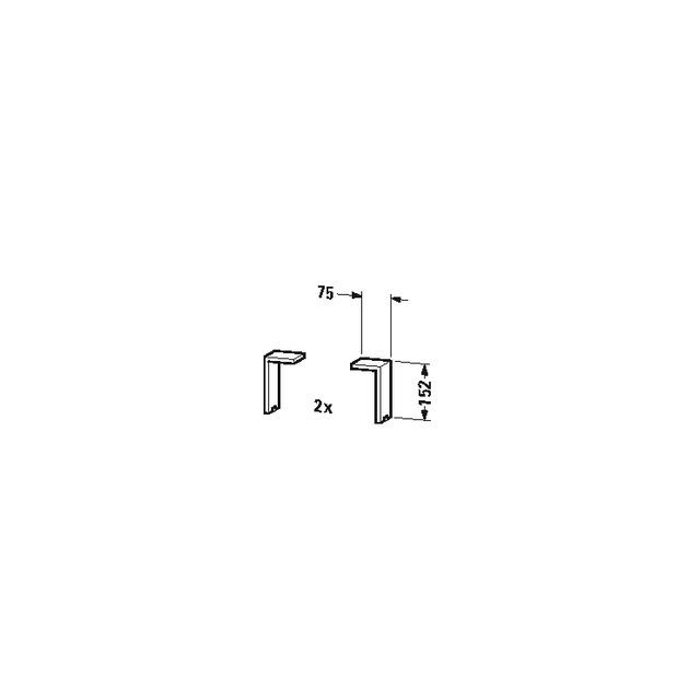Duravit Sockelfuß Universal 65x70x152mm 2 Stück aluminium matt UV999100000