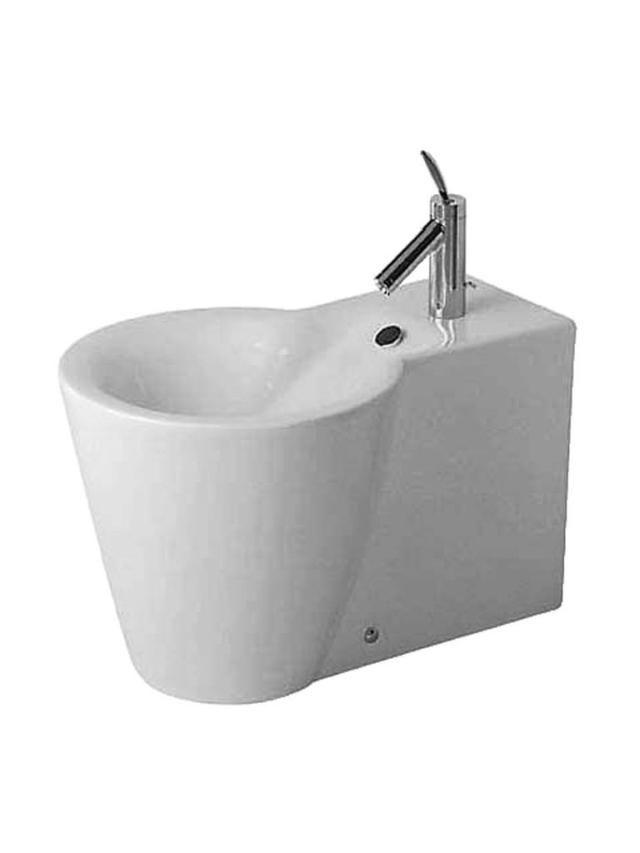 Duravit Starck 1 Stand-Bidet L:64cm für 1-Loch-Armatur mit Überlauf weiß 0274100000