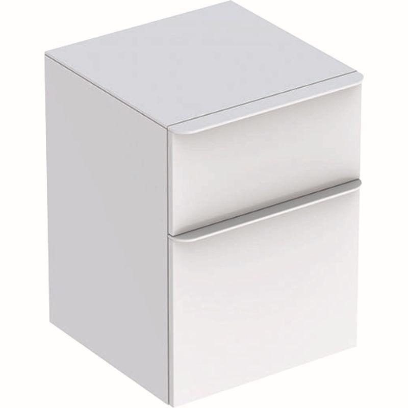 Geberit Smyle Square Seitenschrank mit zwei Schubladen 45x60x47cm weiß 500357001