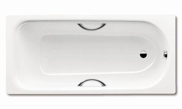Kaldewei Advantage SANIFORM PLUS STAR 345 Badewanne Rechteck 160x75cm alpinweiß Perl-Effekt Vollantislip 134534013001