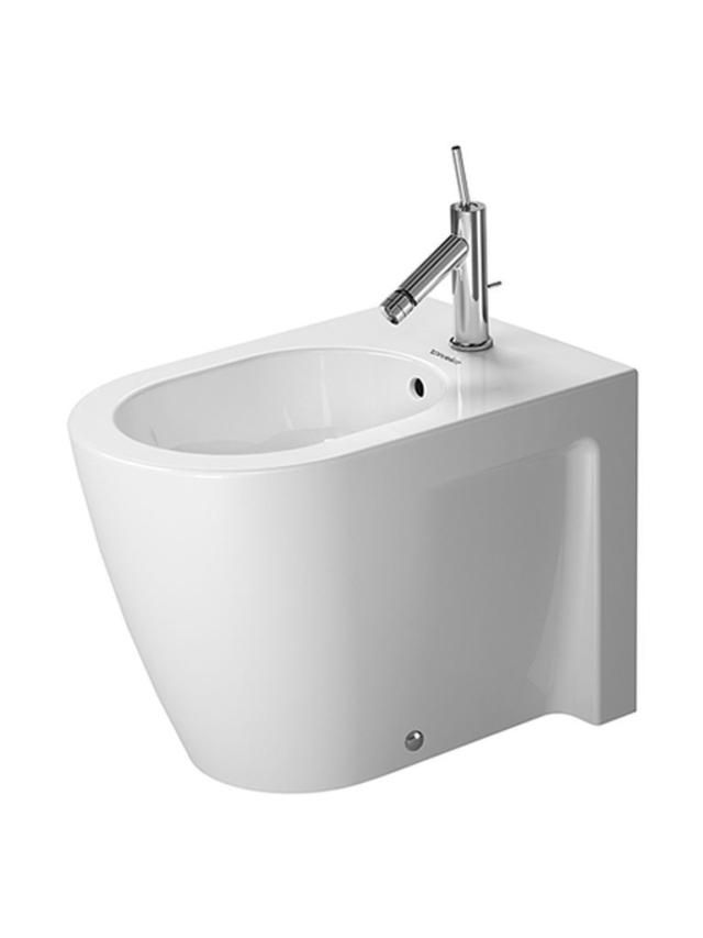 Duravit Starck 2 Stand-Bidet L:57cm für 1-Loch-Armatur mit Überlauf weiß 2255100000