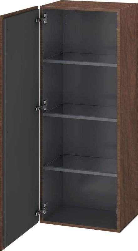 Duravit L-Cube Halbhochschrank B:50xH:132xT:36,3cm 1 Tür Türanschlag links amerikanischer Nussbaum LC1179L1313