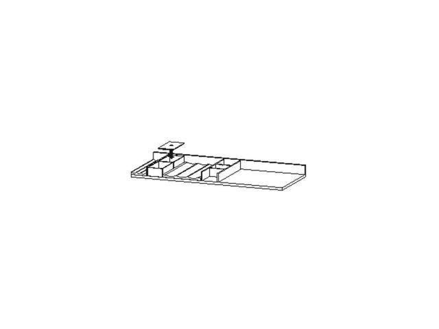 Duravit L-Cube Einrichtungssystem Universal für Auszug 1020mm ohne Siphonausschnitt ahorn massiv UV983007878