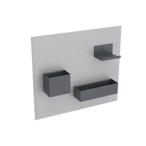 Geberit Keramag Acanto Magnetwand Set B:44,9 x H:38,8 x T:7,5 cm Magnetwand: Sand matt, Ablage und Boxen: Lava matt 500649JL2
