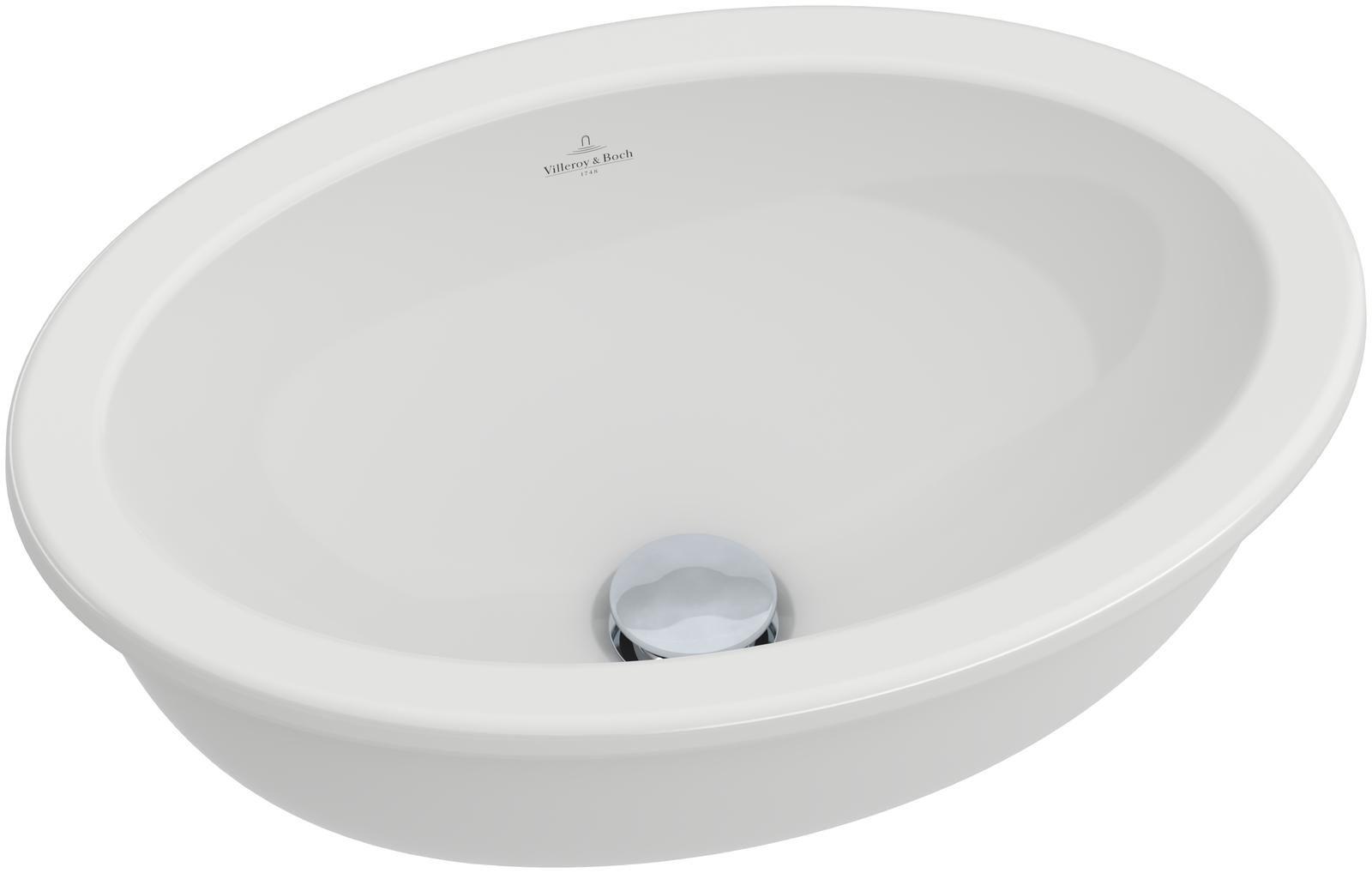 Villeroy & Boch Loop & Friends Unterbauwaschtisch B:42xT:28,5cm ohne Hahnloch ohne Überlauf weiß mit Ceramicplus 616111R1