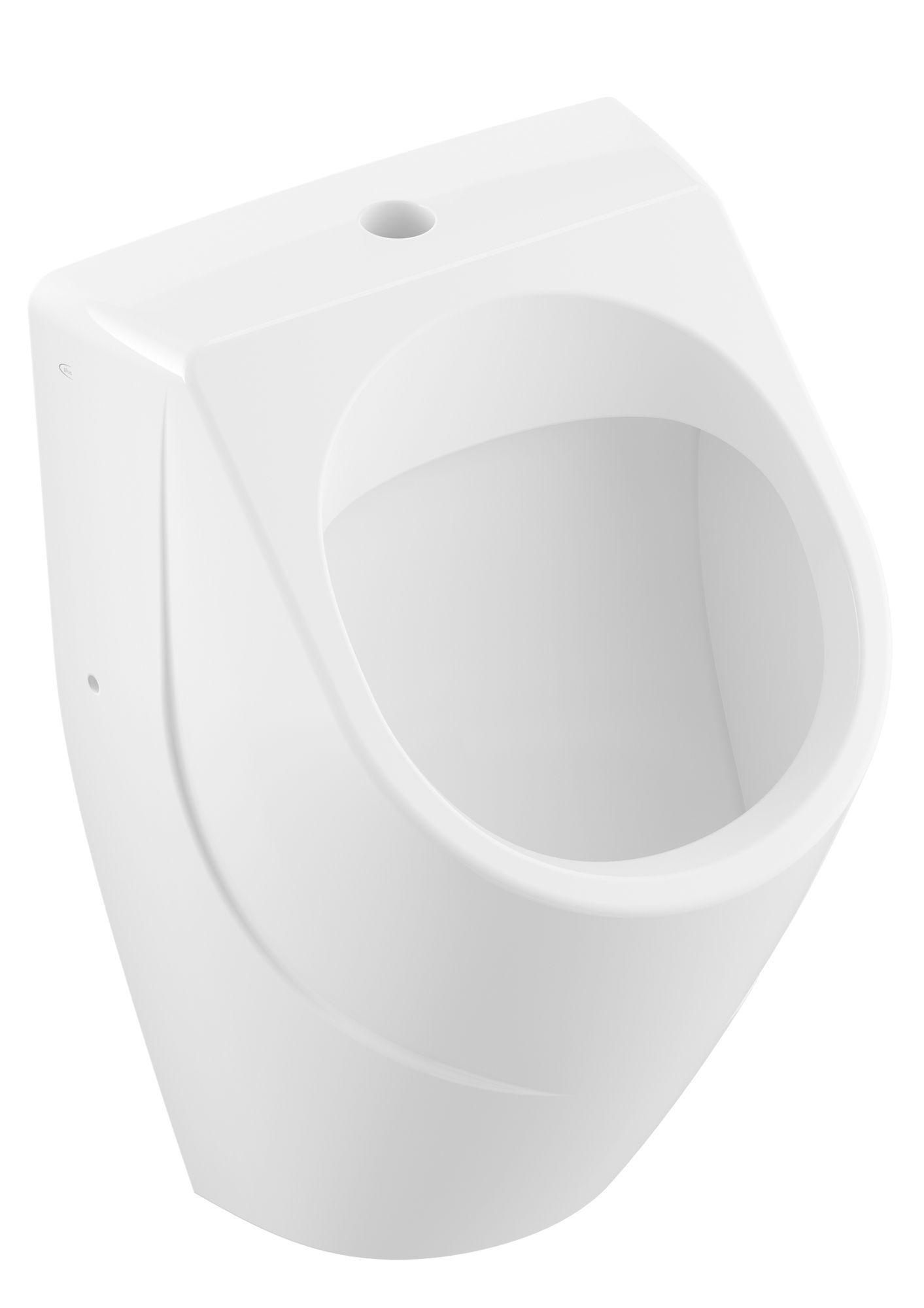 Villeroy & Boch O.novo Absaug-Urinal spülrandlos DirectFlush B:33,5xH:56xT:32cm weiß Ceramicplus 752300R1