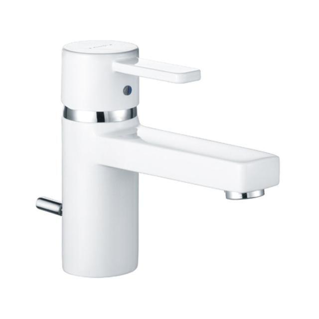 KLUDI ZENTA Waschtisch-Einhandmischer DN 10 Ablaufgarnitur chrom/weiß 382509175