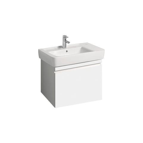 Geberit Keramag Renova Plan Waschtischunterschrank mit 1 Auszug und 1 Schublade B:676xT:438xH:586mm weiß hochglanz 869750000