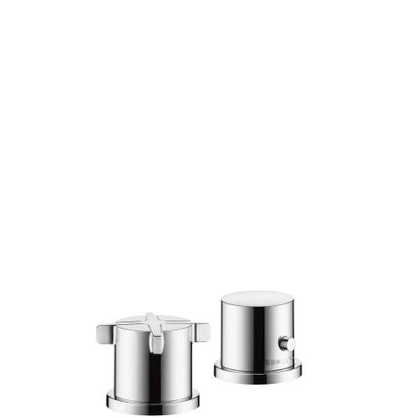 Hansgrohe Axor Citterio E 2-Loch Wannenrandarmatur mit Thermostat für Unterptz-Set chrom 36412000