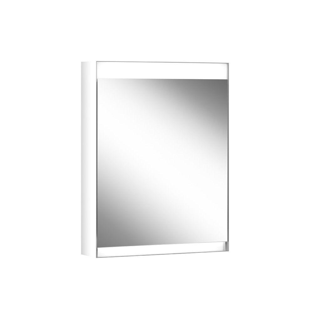 Schneider Spiegelschrank ADVANCED Line Superior 50/1/HCL/L B:50xH:76xT:15cm mit Beleuchtung mit Kosmetikspiegel grau 180.051.02.04