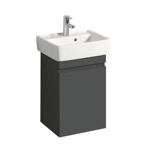 Geberit Keramag Renova Plan Handwaschbecken-Unterschrank mit 1 Tür Türanschlag wählbar B:414xT:345xH:586mm lava matt 869051000