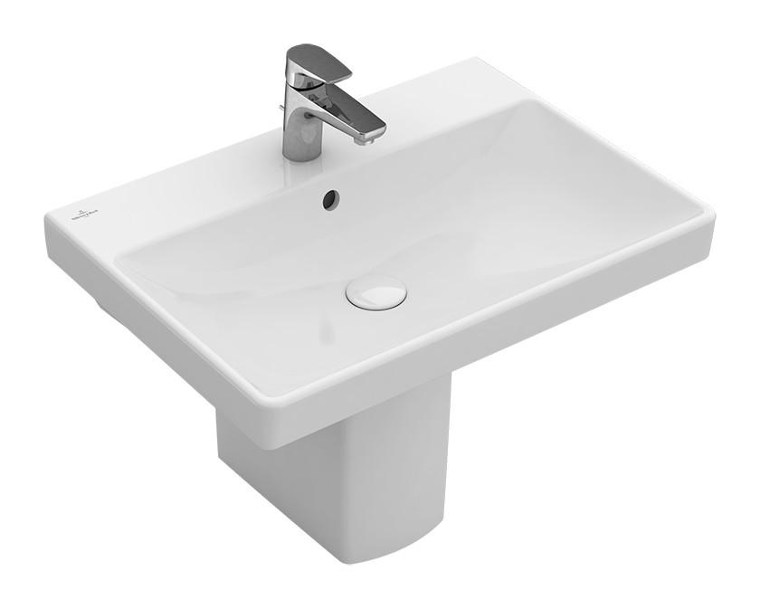 Villeroy & Boch Avento Waschtisch B:65xT:47cm 1 Hahnloch mit Überlauf weiß mit CeramicPlus 415865R1