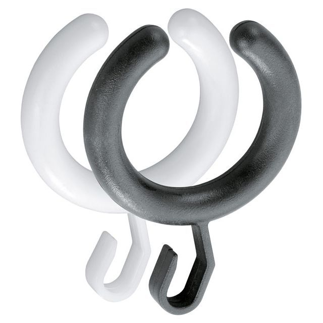 Keuco Plan Vorhangring halboffen Verpackungseinheit 10 schwarz 14927000165