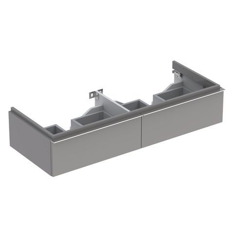Geberit Keramag iCon Waschtischunterschrank mit 2 Schubladen B:1190xT:477xH:240mm platin hochglanz 840222000