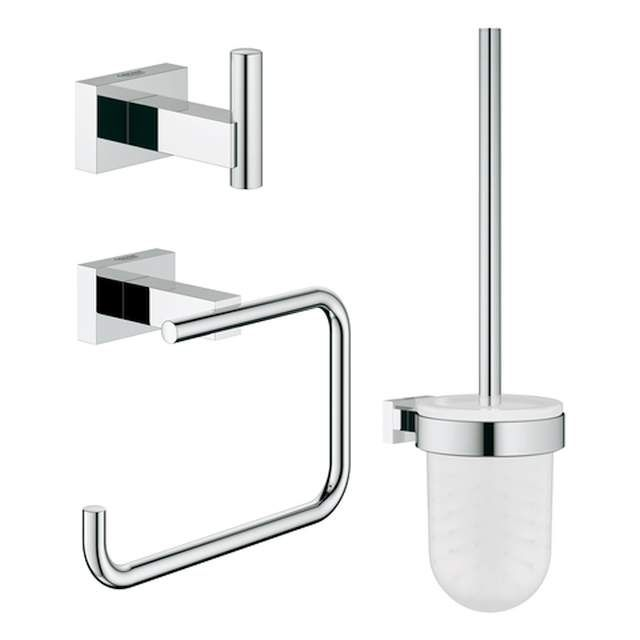 Grohe Essentials Cube WC-Set 3in1 chrom 40757001