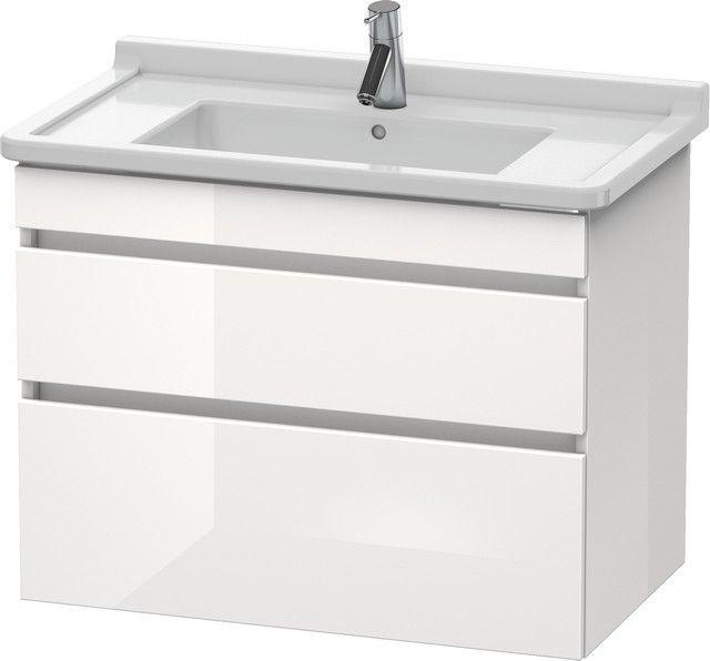 Duravit DuraStyle Waschtischunterschrank wandhängend B:80xH:61,8xT:47cm 2 Schubkästen kastanie dunkel, weiß matt DS648805318