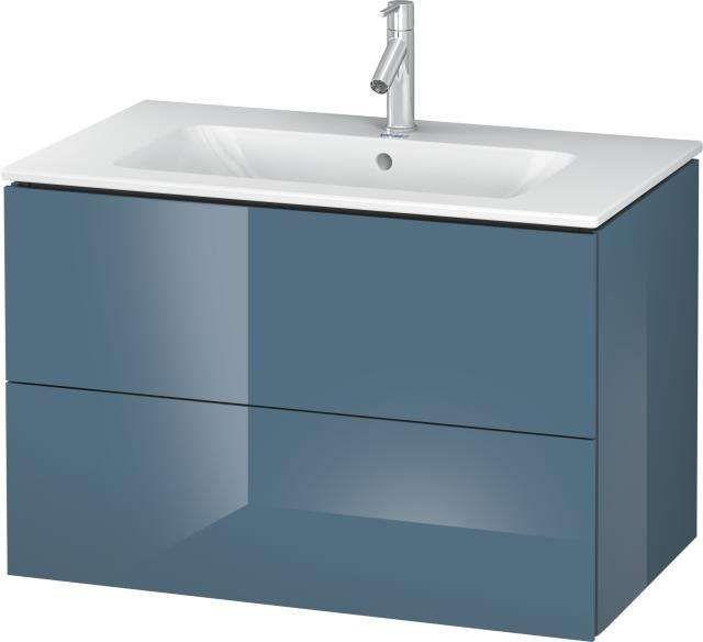 Duravit L-Cube Waschtischunterschrank wandhängend für 233683 B:82xH:55xT:48,1cm 2 Schubkästen stone blue hochglanz LC624104747