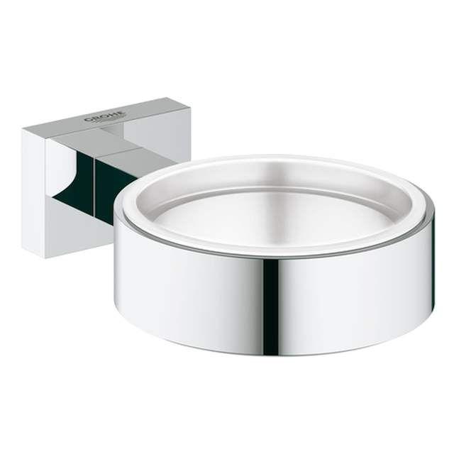 Grohe Essentials Cube Halter für Becher Seifenschale oder Seifenspender chrom 40508001