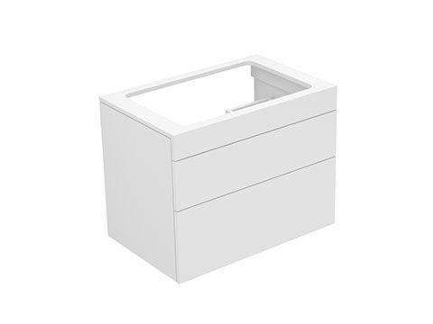 Keuco Edition 400 Waschtischunterbau 2 Frontauszüge 700 x 546 x 450 mm weiß/weiß 31571380001