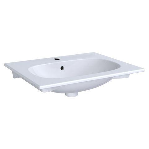 Geberit Keramag Acanto Möbelwaschtisch Slim B:60 x T:48 cm mit Hahnloch mit Überlauf  weiß 500640012