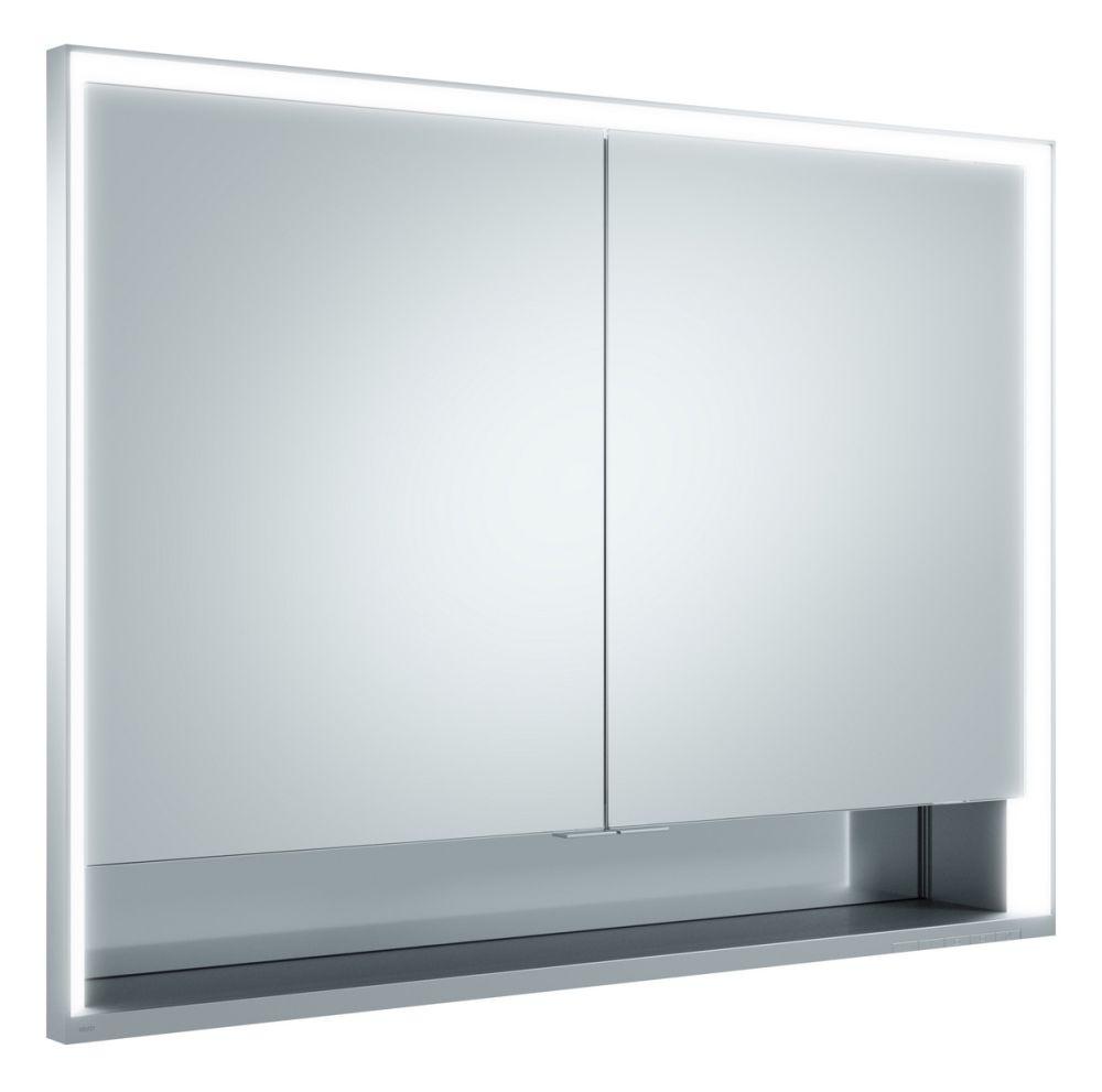 Keuco Lumos Spiegelschrank 14318 mit Ablagefach, Einbau, H:73,5,B:105,T:16,5cm, silber eloxiert, 14318171301