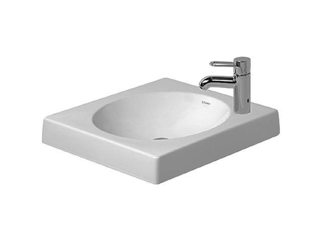Duravit Architec Aufsatzwaschtisch B:50xT:50cm 1 Hahnloch links mit Überlauf geschliffen weiß 0320500009