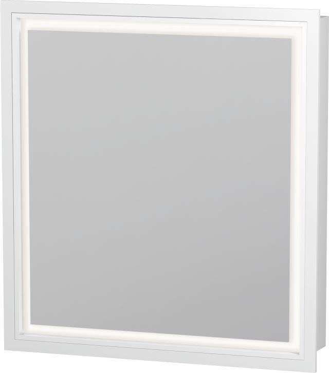 Duravit L-Cube Spiegelschrank Einbauvariante B:65xH:70xT:15,4 cm mit LED Beleuchtung Anschlag links LC7650L0000