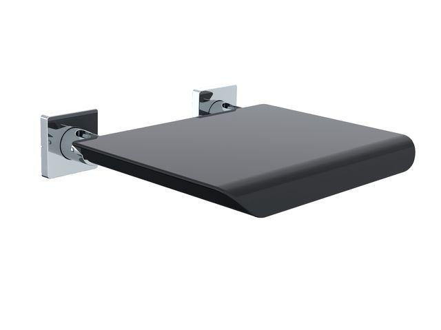 Emco system 2 Wandklappsitz chrom Kunststoffsitzfläche schwarz 355121202