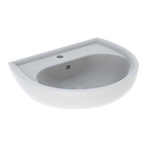 Geberit Keramag Renova Waschtisch B:60xT:49cm 1 Hahnloch mit Überlauf weiß mit KeraTect 223060600