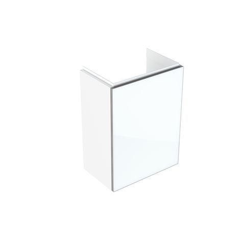Geberit Keramag Acanto Handwaschbecken-Unterschrank B:39,6 x H:53,4 x T:24,6 cm Korpus: weiß hochglanz, Front: Glas weiß 500607012