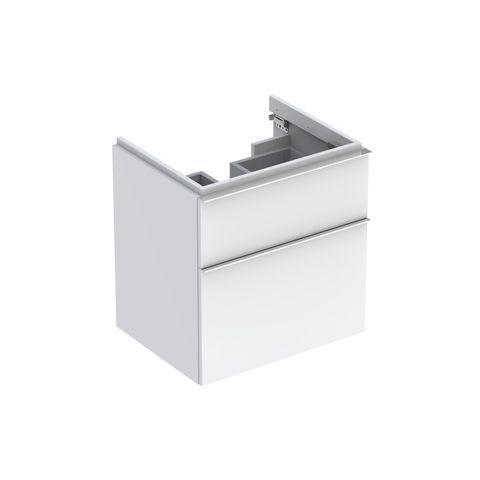 Geberit Keramag iCon Waschtischunterschrank mit 2 Schubladen B:595xT:477xH:620mm alpin hochglanz 840360000
