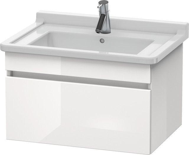 Duravit DuraStyle Waschtischunterschrank wandhängend B:65xH:40,6xT:47cm 1 Auszug europäische eiche, weiß matt DS638705218