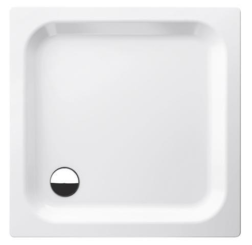 Bette Rechteck-Duschwanne extraflach L:85xB:70xT:6,5cm mit Antirutsch weiß 5780-000AR