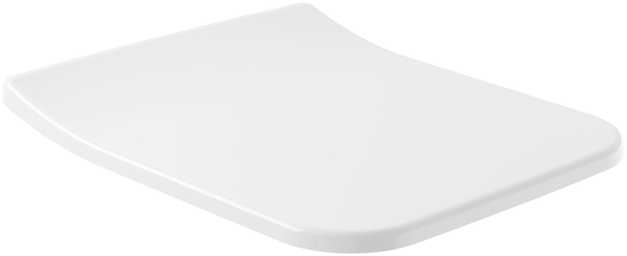 Villeroy & Boch Venticello WC-Sitz SlimSeat T:454 x H:49 x B:379mm mit Absenkautomatik weiß 9M79S101