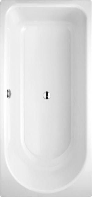 Bette Ocean Rechteck-Badewanne L:170xB:75xT:52,8cm Fußende rechts Überlauf hinten mit Antirutsch weiß mit BetteGlasur Plus 8854-000ARPLUS