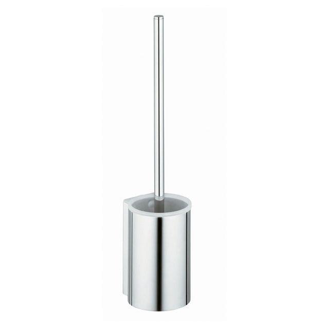 Keuco Plan WC-Bürstengarnitur komplett mit Kunststoff-Einsatz Bürste mit Griff und Ersatzbürstenkopf schwarz 14972170200