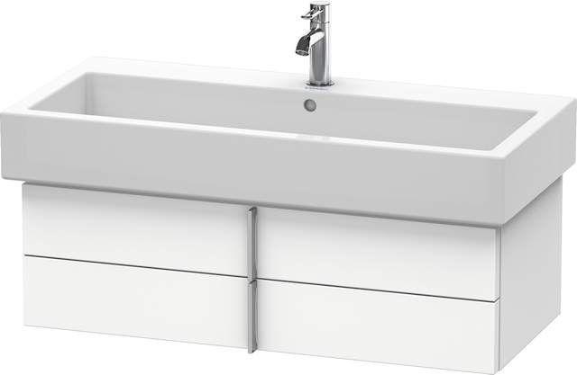 Duravit Vero Waschtischunterschrank wandhängend für 045410 B:95xH:29,8xT:43,1cm 2 Schubkästen weiß matt VE620701818