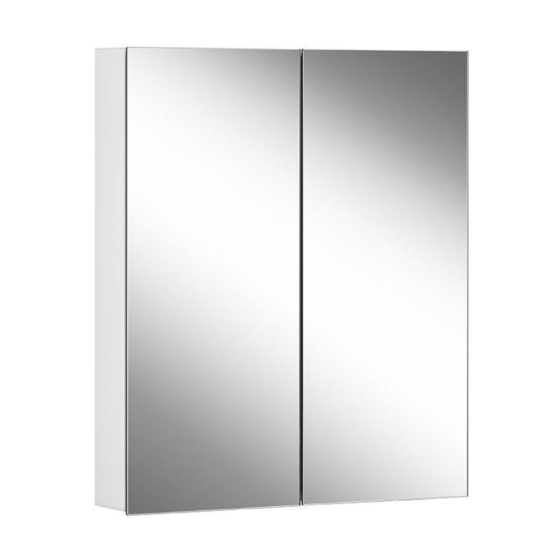 Schneider Spiegelschrank ADVANCED Line Comfort 70/2/TW B:70xH:70xT:12cm mit Beleuchtung mit Kosmetikspiegel weiß 179.070.02.02