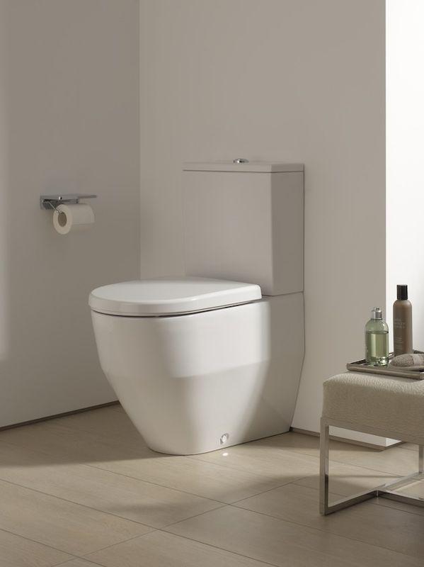 Laufen PRO Stand-Tiefspül-WC für Kombination Abgang waagerecht 360x650 weiß mit CleanCoat LCC H8259524000001