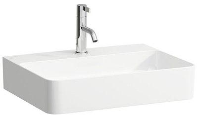 Laufen VAL Möbel-Waschtisch ohne Hahnloch mit Überlauf B:55xT:42cm weiß mit CleanCoat LCC H8102824001091