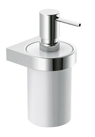 HEWI Seifenspender Kunststoff mit Halter System 800 Halter chrom Seifenspender Signalweiß 800.06.11041