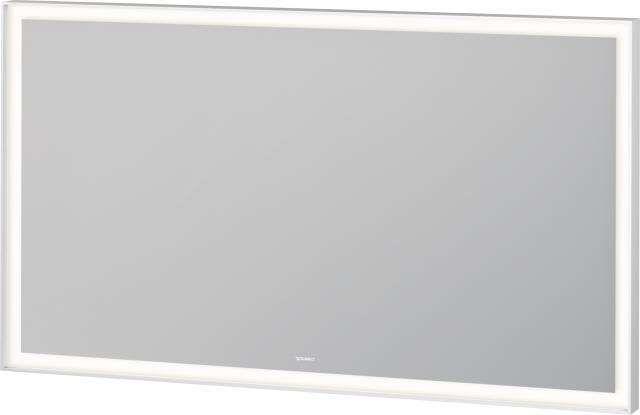 Duravit L-Cube Spiegel mit Beleuchtung B:120xH:70xT:6,7cm weiß matt gepulvert LC738300000