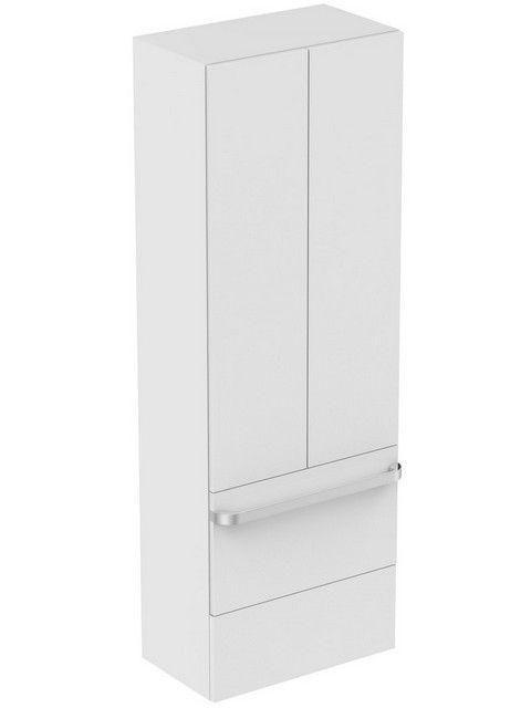 Ideal Standard TONIC II Hochschrank 2 Auszüge 2 Türen 600x350x1735mm eiche dekor grau R4316FE