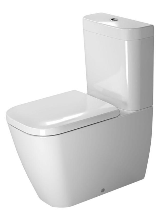 Duravit Happy D.2 Tiefspül-Stand-WC für Aufsatzspülkasten Vario Abgang L:63xB:36,5xH:40cm weiß mit Wondergliss 21340900001