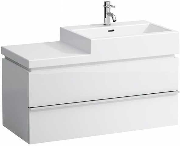 Laufen Living City Waschtischunterbau mit 2 Auszügen B:99xH:45,5xT:45,5cm weiß matt H4012820754631