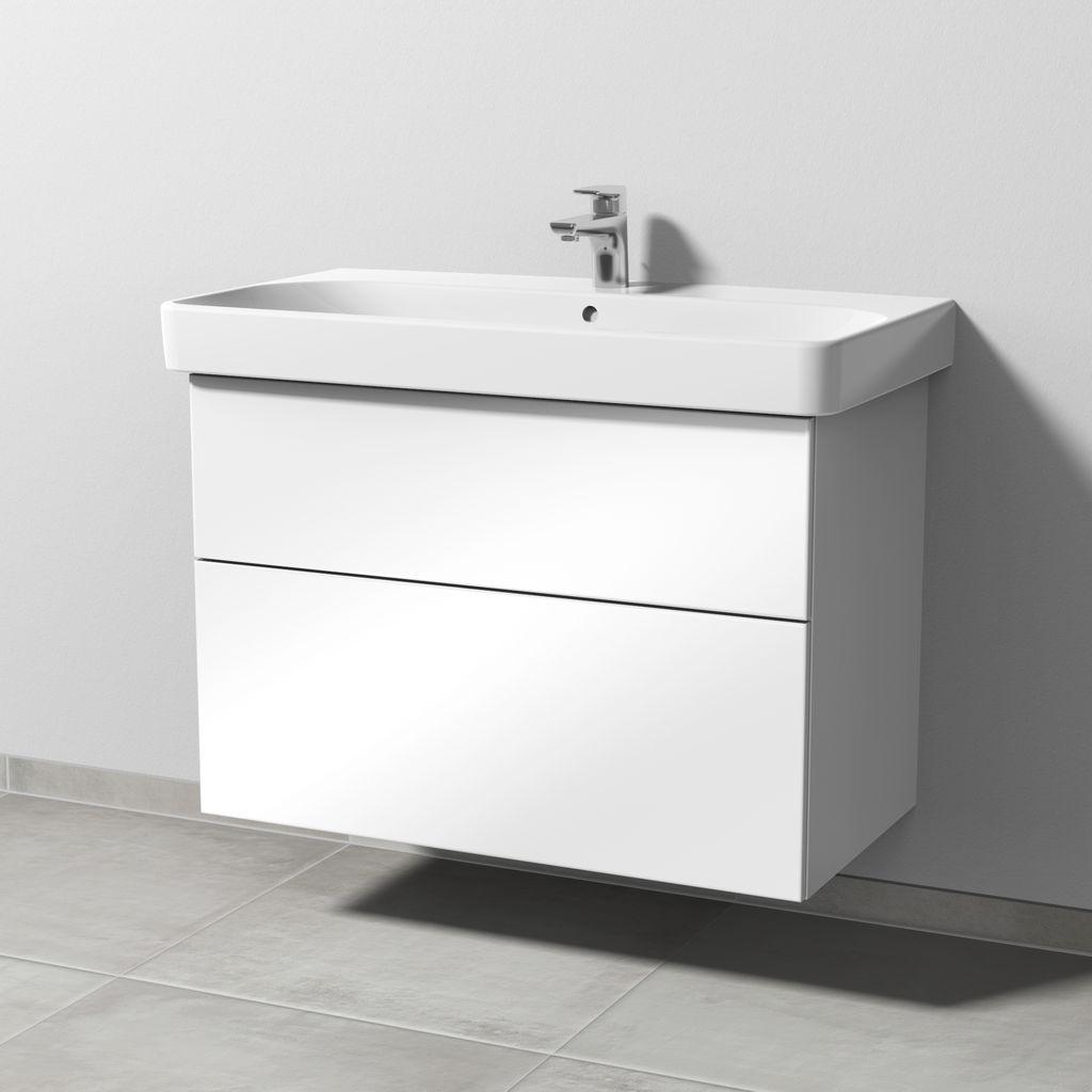 Sanipa 3way Waschtischunterbau mit Auszügen (SF671) H:59,3xB:83xL:44,2cm Weiß-Glanz SF67178