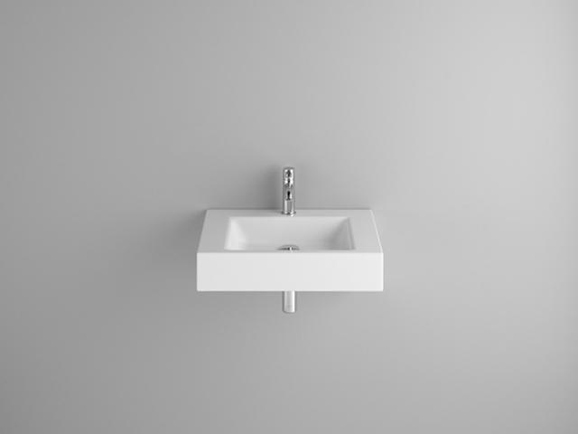 Bette Aqua Wandwaschtisch B:60xT:49,5xH:12,5cm mit 1 Hahnloch ohne Überlauf weiß mit BetteGlasur A056-000HLW1,PW