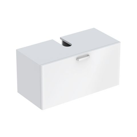 Geberit Keramag Renova Plan Waschtischunterschrank mit 1 Auszug B:930xT:445xH:463mm weiß hochglanz 879110000