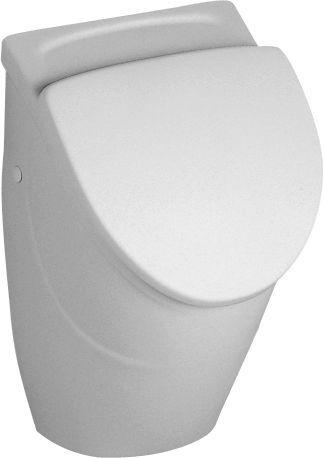 Villeroy & Boch O.novo Urinal für Deckel mit Zielobjekt Zulauf verdeckt weiß mit ceramicplus 7557