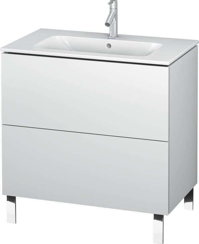 Duravit L Cube Waschtischunterschrank bodenstehend für B 82xH 70 4xT 48 1cm 2 Auszüge weiß matt LC